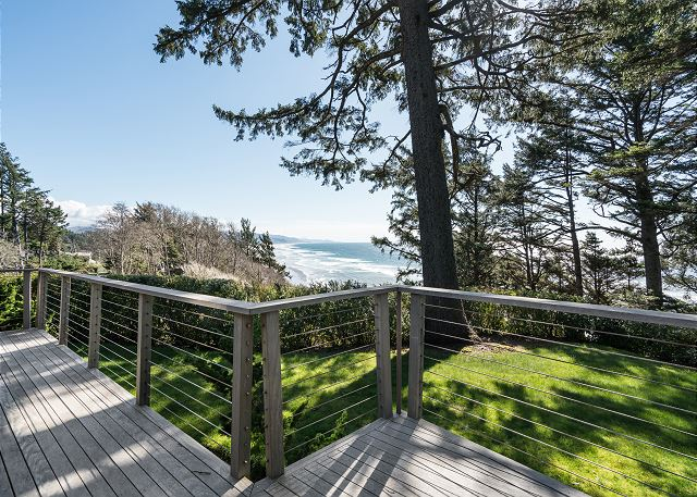 Large deck provides ocean-viewing options from all directions
