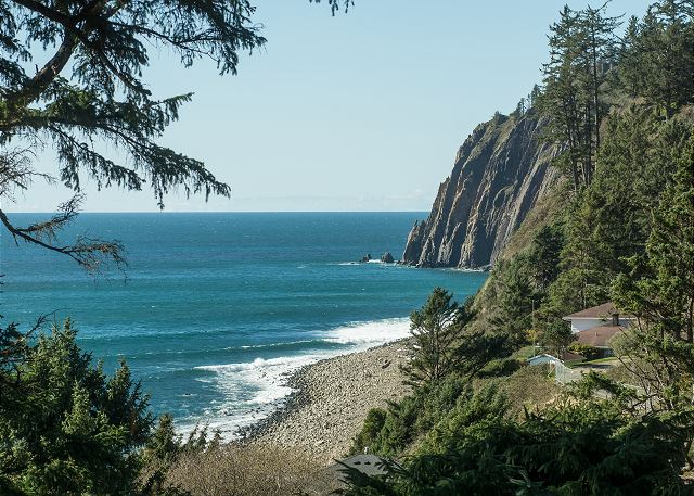 Exclusive northerly views from this one-of-a-kind property at the base of Neahkahnie Mountain