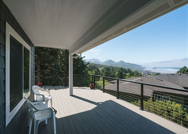 A misty coastal day doesn't mean you'll have to miss out on sitting on the deck