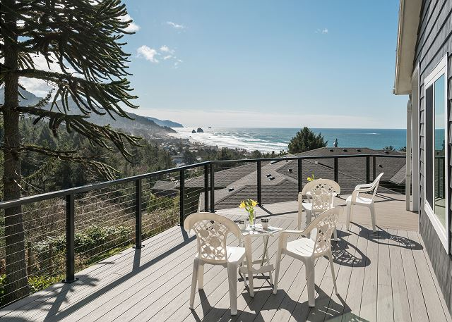 Expansive ocean views from the wraparound deck