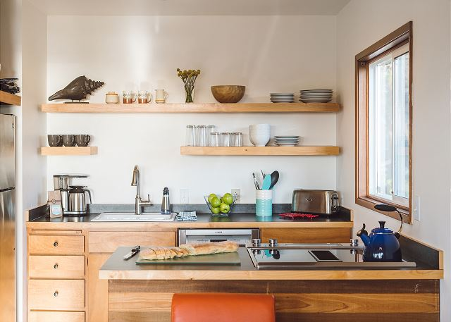 Cooking is a joy in this well-stocked kitchen with high-end amenities