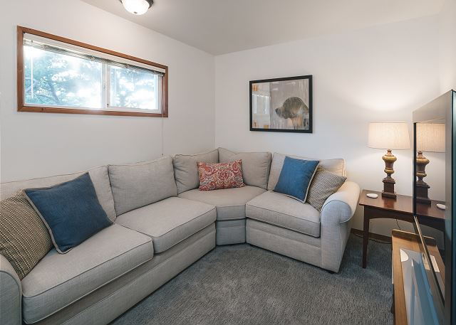 Lots of space to stretch out in front of the tv in this comfortable ground floor living space