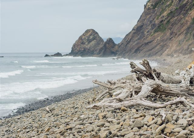Cove Beach is off the beaten path, just south of Arch Cape.  Perfect for finding sand dollars and quiet contemplation.