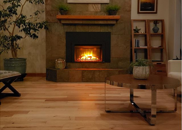 SimpliFire electric fireplace will warm your heart and soul on stormy nights!