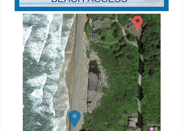 Santo is just a short walk up a slight incline to your beach access