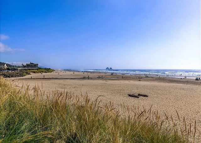 7 miles of sandy beach less than a block from your door!