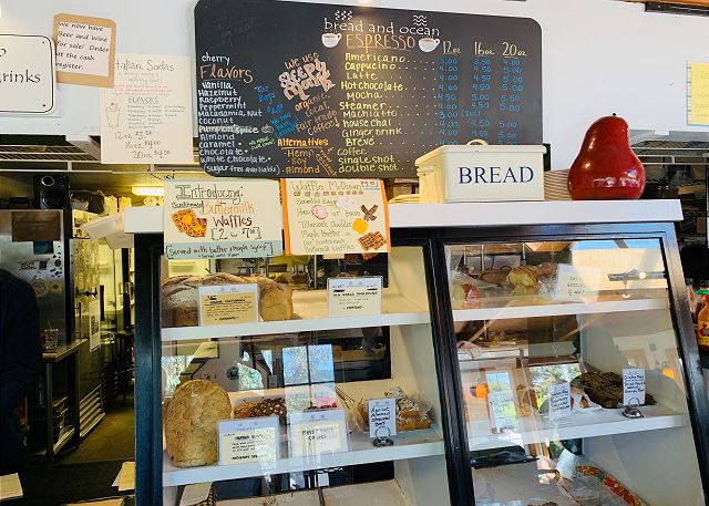 Bread and Ocean is across the street - fresh baked yumminess!