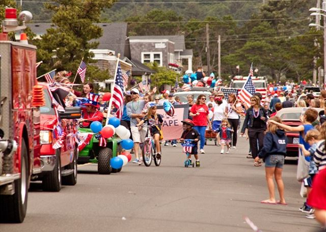 You'll have front row seats for the 4th of July parade!