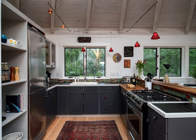 Efficient and well-stocked kitchen