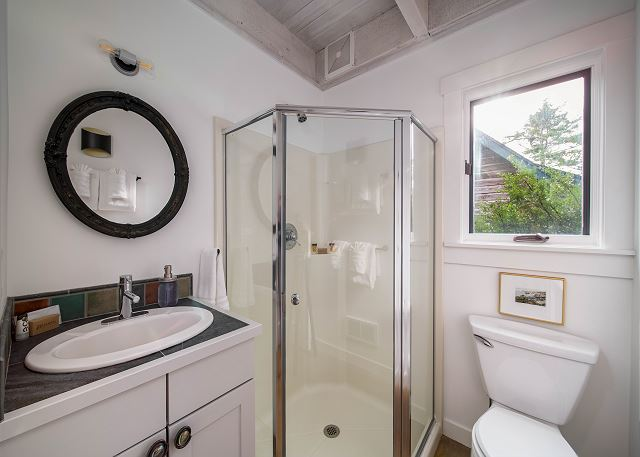 Second bathroom is shared between two guest bedrooms