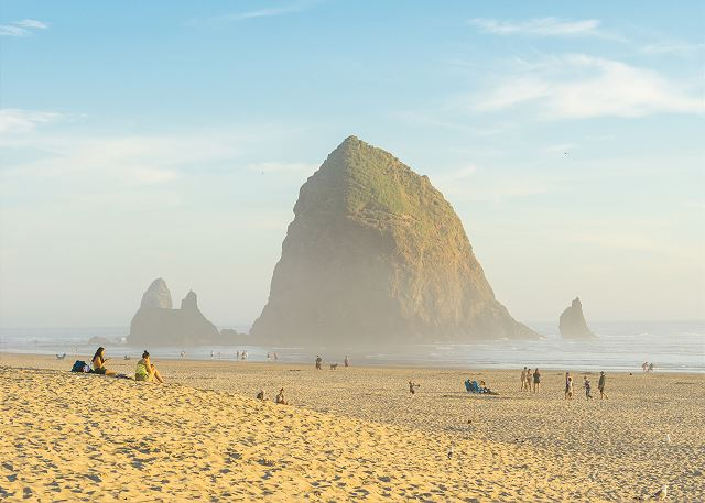 Haystack Rock is just a short walk from Puffin Nest