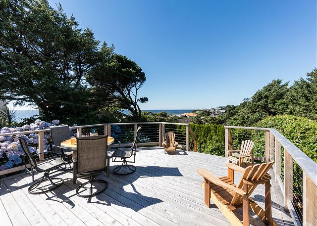Relax on the raised deck while taking in the ocean views