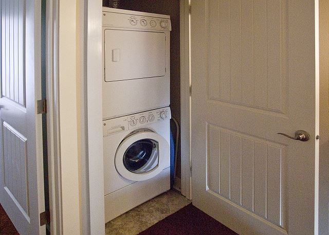 Convenient laundry closet on the 2nd floor
