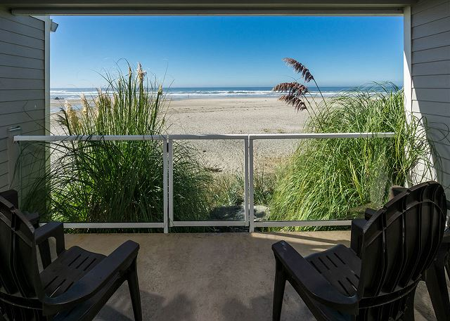 First floor balcony - sheltered from the wind and direct access to the beach through the gate