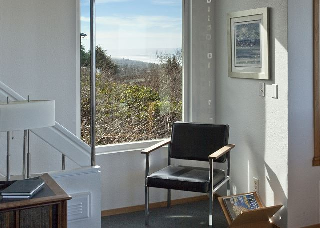Enjoy a sunny reading corner on the main floor.