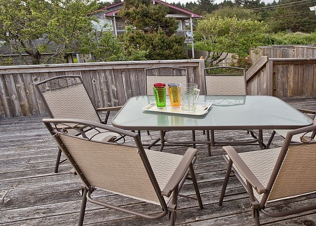 Dine al fresco on one of two large decks