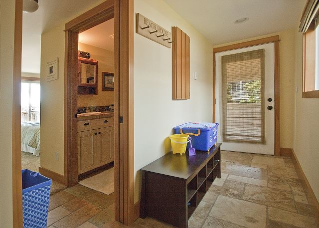 Pocket door lends privacy to master suite