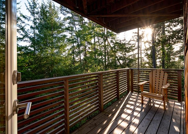Private balcony off the master bedroom.  Tranquility at its best.