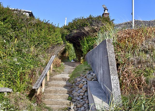 Beach access just steps from Sea Glass