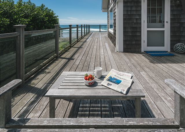 Large wrap around deck - perfect for whale-watching or just soaking it all in!