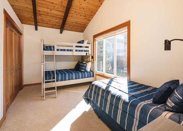 Twin over double bunk plus twin bed