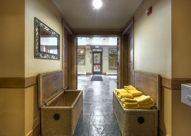 Hallway to Shared Pool and Hot Tub