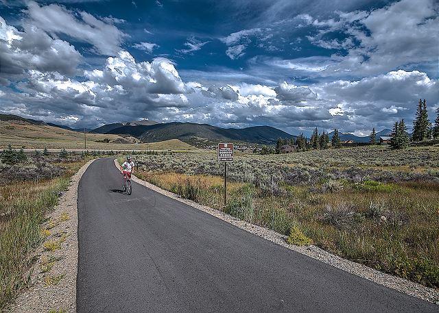 Enjoy the bike paths near the property.