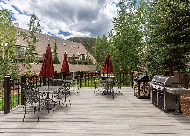 Shared Deck and Grill Area