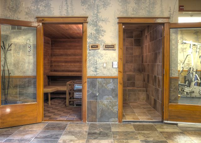 Shared Sauna and Steam Room