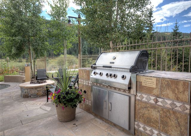 Shared Outdoor Grill and Fire Pit
