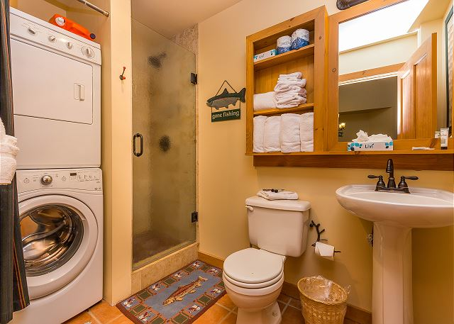 Guest Bathroom and Private Laundry