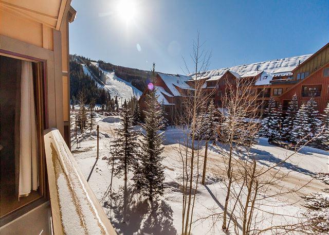 During the winter, enjoy beautiful slope views.