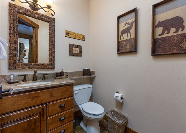 Half Bathroom on the Basement Level
