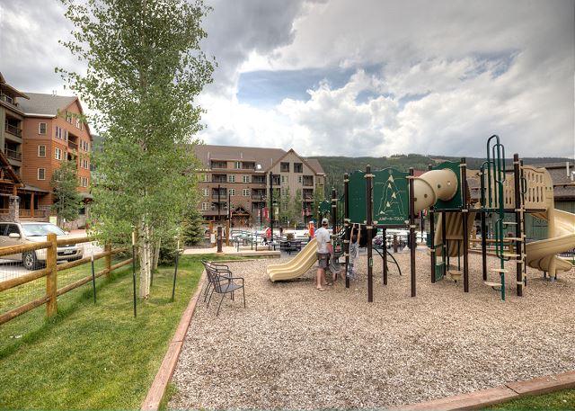 Dercum Square features a playground year-round.