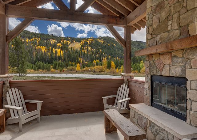 Shared Covered Patio with Fireplace