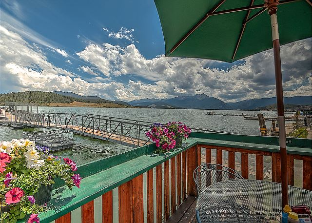 View from Tiki Bar of Dillon Lake