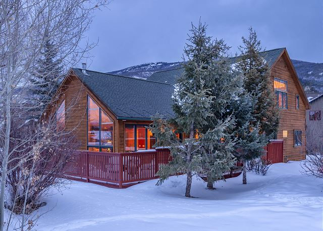 A beautiful stand-alone mountain home in Silverthorne, Colorado.