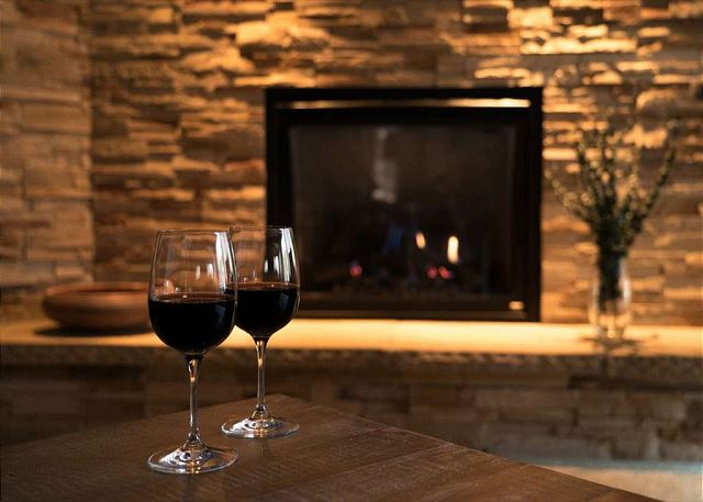 Enjoy a cozy night in front of the fireplace after a long day of outdoor adventure.