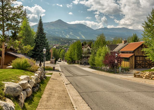 View of Main Street in Breckenridge, Colorado