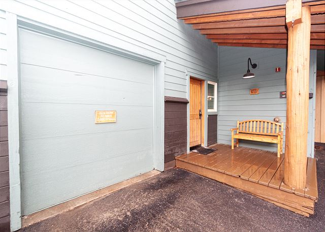 Private garage and entryway.