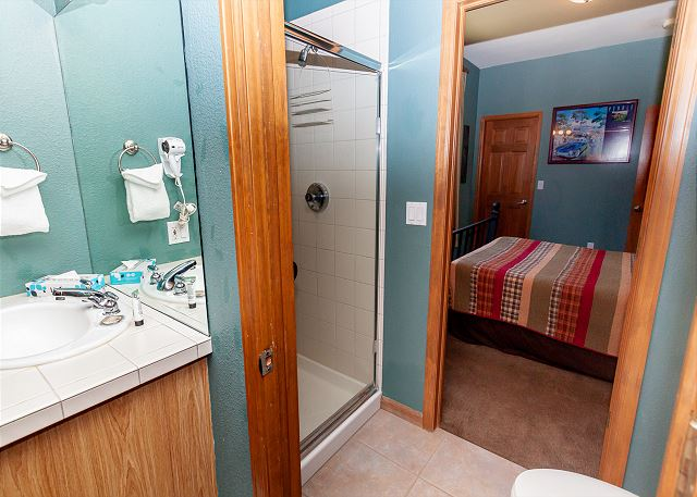 Upstairs guest bathroom.