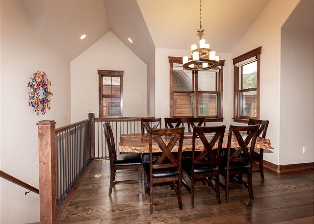 Dining area with seating for 8