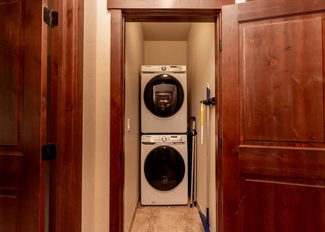 The main level also has a washer and dryer.
