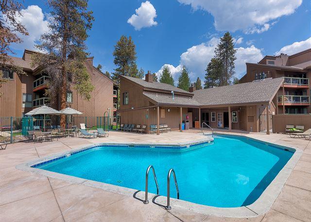 Shared pool at Wild Irishman Condominiums