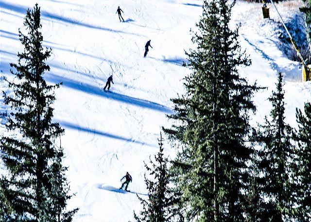 Skiers enjoying the slopes in Keystone