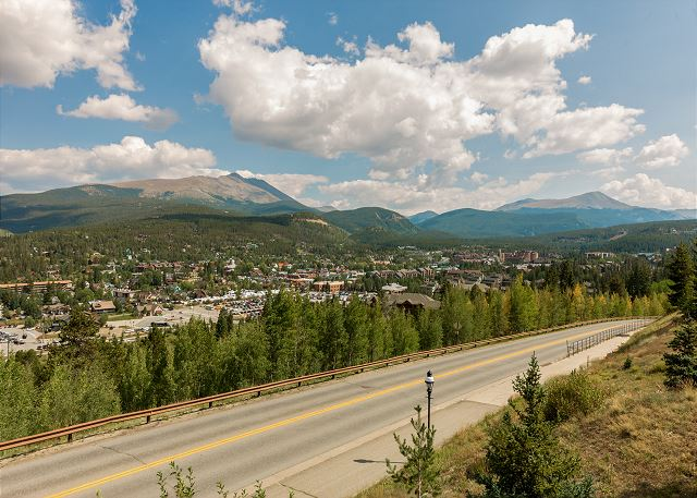 Overlook off of Ski Hill Road onto downtown Breckenridge