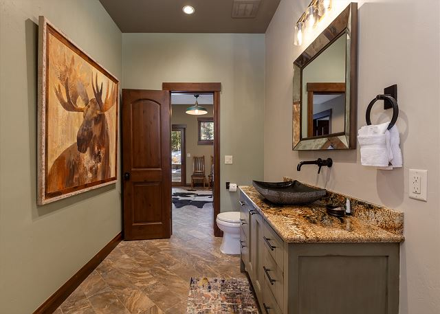 Guest half bathroom downstairs