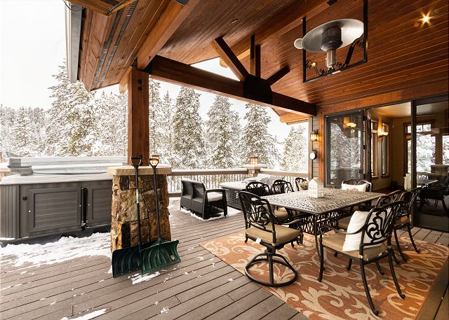 Private deck off the living area