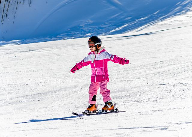 Hit the slopes on your own or take advantage of ski school.
