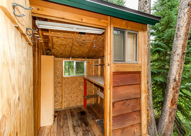 Exterior Storage and Mud Room